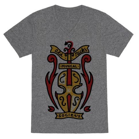 Old Nick's Musical Society V-Neck Tee Shirt