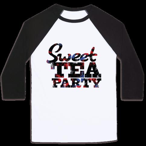 Sweet Tea Party (Colors) Baseball Tee