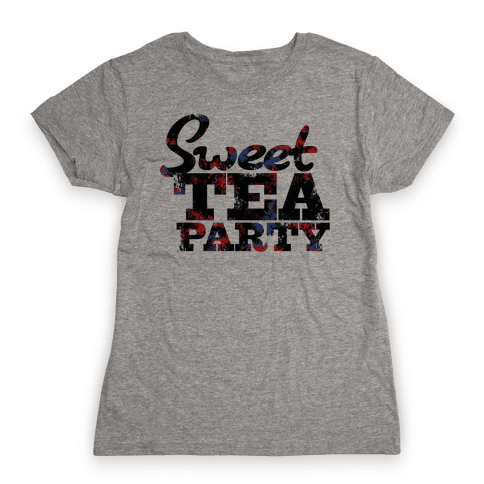 Sweet Tea Party (Colors) Womens T-Shirt