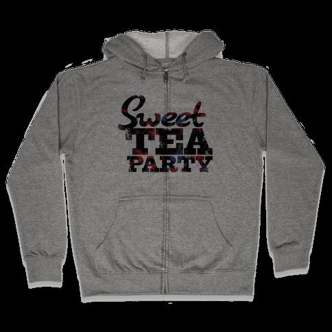 Sweet Tea Party (Colors) Zip Hoodie