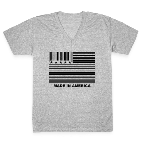Made In America V-Neck Tee Shirt