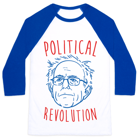 Bernie Political Revolution Baseball Tee