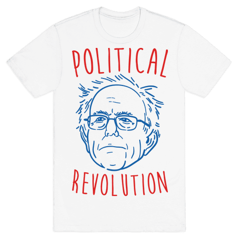Bernie Political Revolution Mens T-Shirt