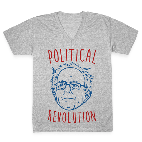 Bernie Political Revolution V-Neck Tee Shirt