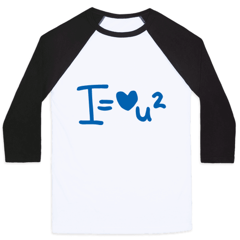 I Love You2 (Algebra Love) Baseball Tee
