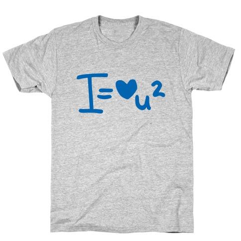 I Love You2 (Algebra Love) Mens/Unisex T-Shirt