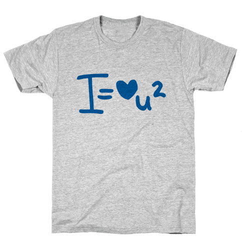 I Love You2 (Algebra Love) Mens T-Shirt