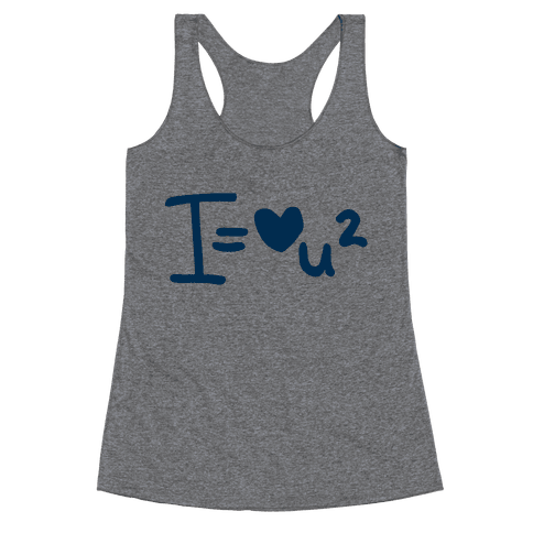 I Love You2 (Algebra Love) Racerback Tank Top