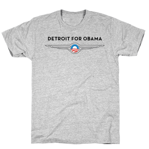 Detroit for Obama Mens T-Shirt
