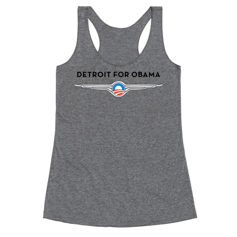 Detroit for Obama Racerback Tank Top