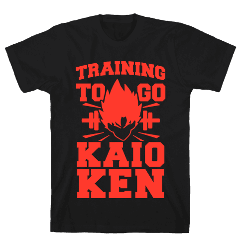 Training to Go Kaio-Ken Mens T-Shirt