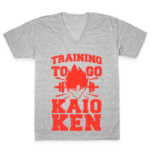 Training to Go Kaio-Ken V-Neck Tee Shirt