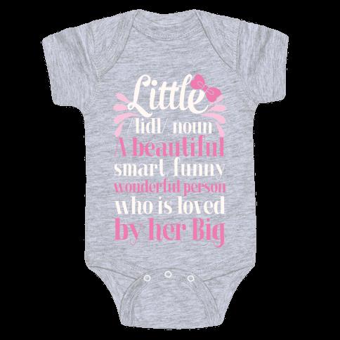 Little Definition (Sorority) Baby Onesy