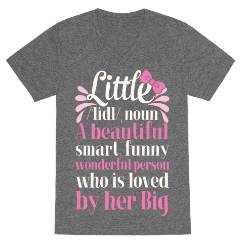 Little Definition (Sorority) V-Neck Tee Shirt