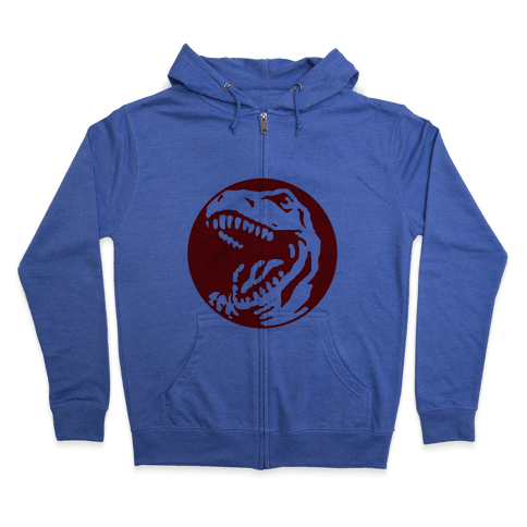 The Red T-Rex Zip Hoodie
