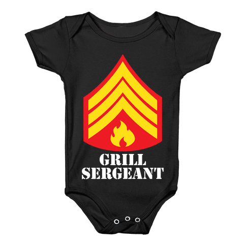Grill Sergeant Baby Onesy