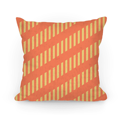 Orange Diagonal and Vertical Pillow
