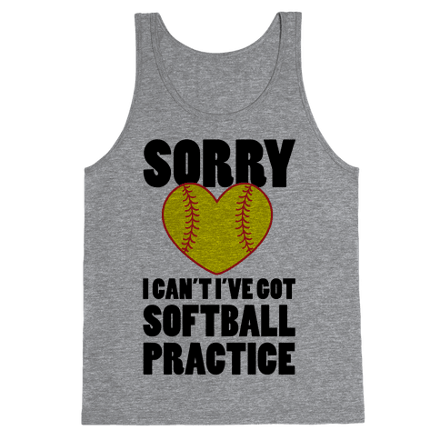 Softball Practice Tank Top