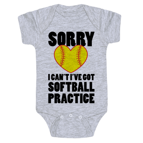 Softball Practice Baby Onesy