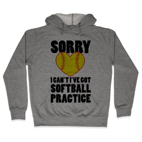 Softball Practice Hooded Sweatshirt