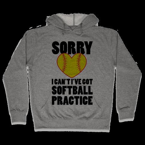 Softball Practice Hooded Sweatshirt
