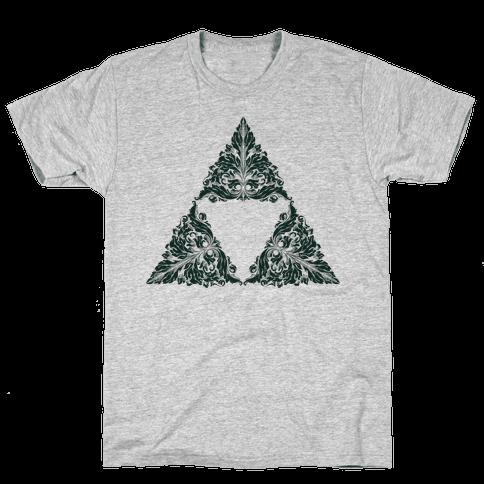 Floral Triforce Mens T-Shirt