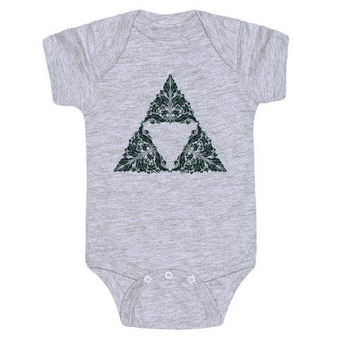 Floral Triforce Baby Onesy