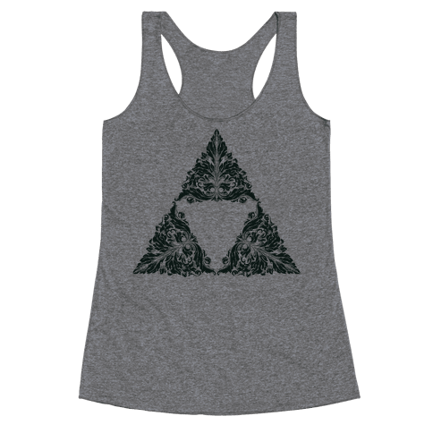 Floral Triforce Racerback Tank Top