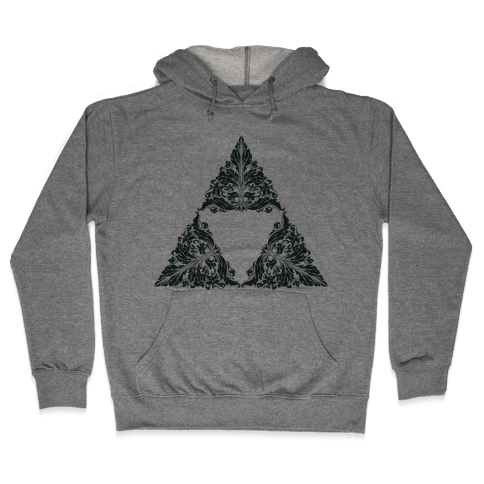 Floral Triforce Hooded Sweatshirt