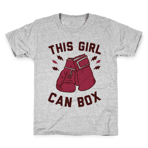 This Girl Can Box Kids T-Shirt
