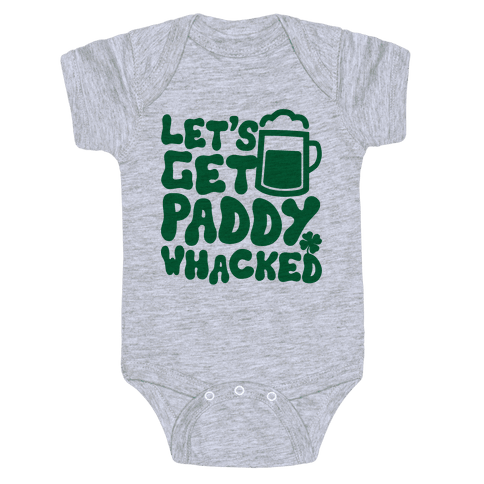 Let's Get Paddy Whacked Baby Onesy
