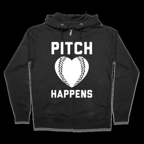 Pitch Happens Zip Hoodie