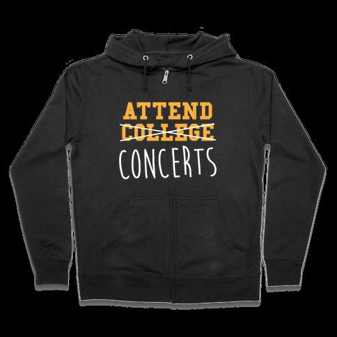 Concerts Zip Hoodie