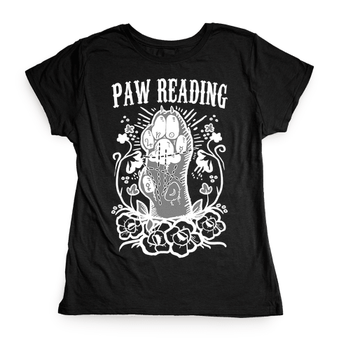 Paw Reading Womens T-Shirt