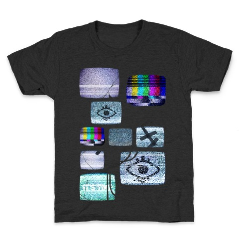Static Tv Set Kids T-Shirt