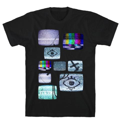 Static Tv Set Mens/Unisex T-Shirt
