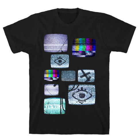 Static Tv Set Mens T-Shirt