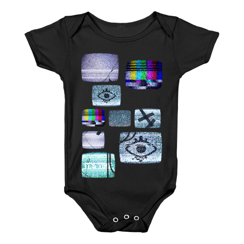 Static Tv Set Baby Onesy