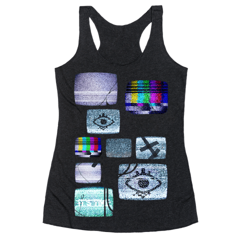Static Tv Set Racerback Tank Top