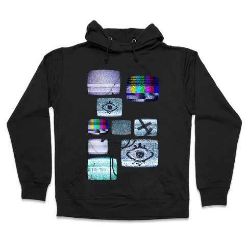 Static Tv Set Hooded Sweatshirt