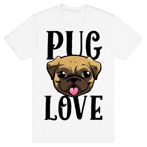 Pug Love Mens T-Shirt