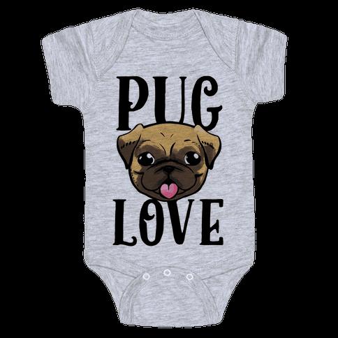 Pug Love Baby Onesy