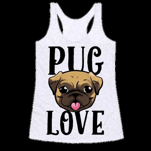 Pug Love Racerback Tank Top