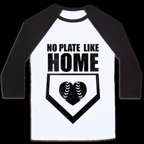 No Plate Like Home (Tank) Baseball Tee