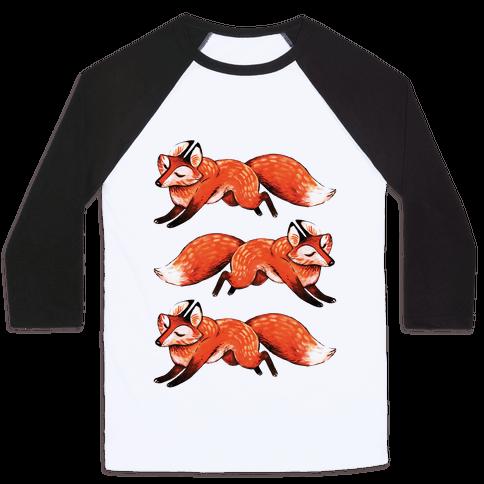 Running Foxes Baseball Tee