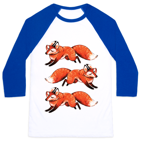 Running Foxes Baseball Tee