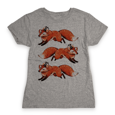Running Foxes Womens T-Shirt