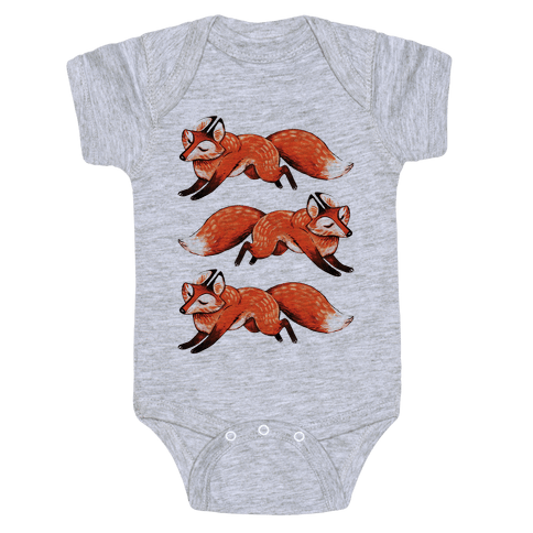 Running Foxes Baby Onesy