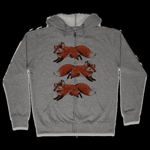 Running Foxes Zip Hoodie