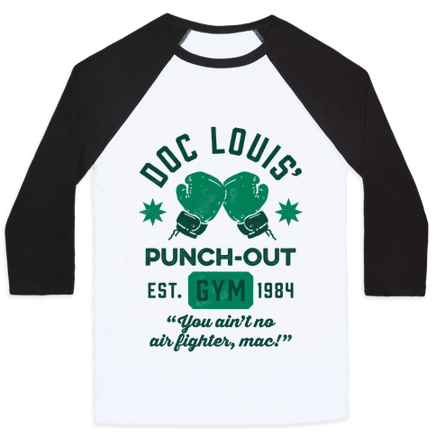 Doc Louis' Punch Out Gym Baseball Tee
